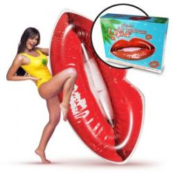 Aufblasbare Luftmatratze - Lippen