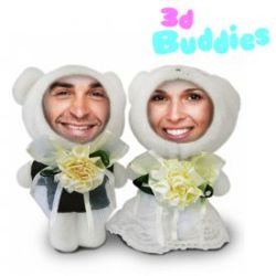 Poupées photo 3D couple de mariés