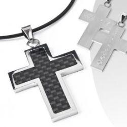 Pendentif avec gravure «  dark cross »