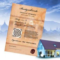 Atlantis Bauland - personalisierte Urkunde