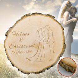 Baumscheibe zur Hochzeit - Silhouette