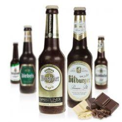 Bouteille de bière en chocolat