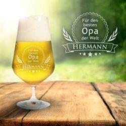 Bierglas mit Gravur - Bester Opa