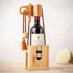 Puzzle casse-tête bouteille en bois précieux - naturel