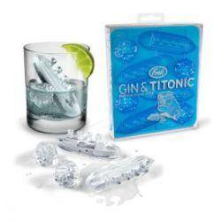 Eiswürfelform Gin & Titonic