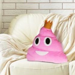 Emoji Kissen - Kackhaufen Pink Poo