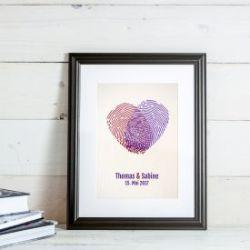 Fingerabdrücke - personalisiertes Bild für Paare