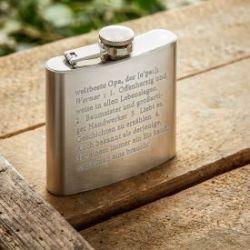 Flasque avec gravure – définition meilleur papi du monde