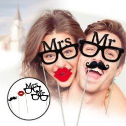 Foto Accessoires zur Hochzeit - Mr and Mrs