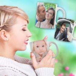 Tasse photo femme - personnalisée