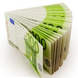 Liasse de billets de 100 Euros Bloc-Notes