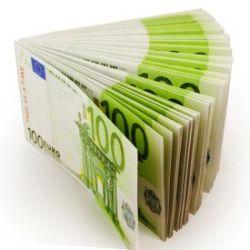 Geldbündel 100 Euro Scheine Notizblock