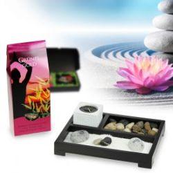 Coffret cadeau jardin zen et mélange de thé