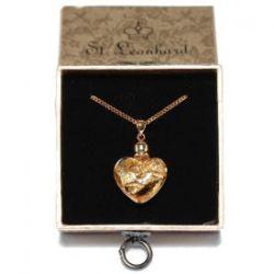 Collier avec pendentif cœur d'or