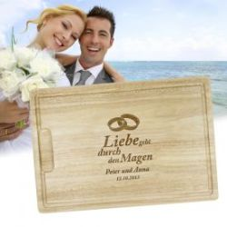 Graviertes Brett zur Hochzeit
