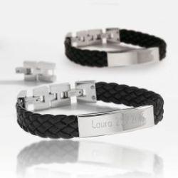 Bracelet gravé tressé