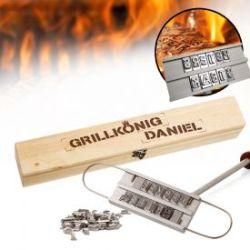 Grillbrandeisen - mit Grillkönig Gravur