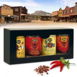 Coffret cadeau de 4 épices à barbecue - édition cowboy