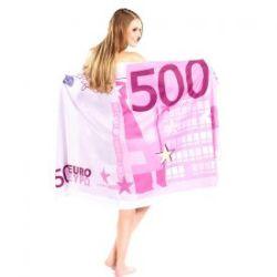 Serviette de bain billet de 500 euros