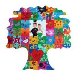 Puzzle en bois arbre à peindre