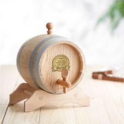 Holzfass mit Gravur Plakette - Bester Papa