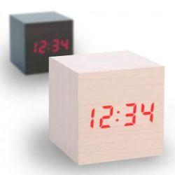 Horloge Cube En Bois