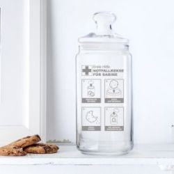 Boîte à biscuits avec gravure - Biscuits d'urgence
