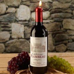 Bougie en forme de bouteille de vin
