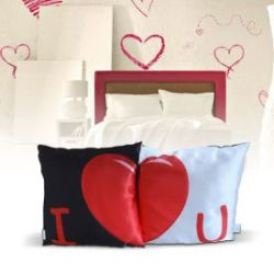 Set de 2 housses de coussin – I love you