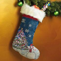 Chaussette de Noël lumineuse