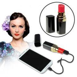 Rouge à lèvres batterie externe