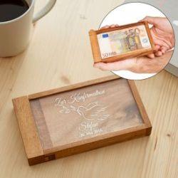 Magische Geldgeschenkbox zur Konfirmation