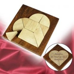 Mini Holz Puzzle - Herz