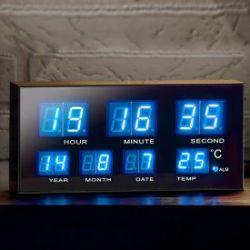 Réveil multifonctionnel avec LEDs bleues