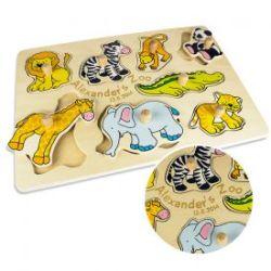 Personalisierbares Puzzle zum Stecken - Zoo