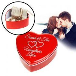 Personalisierte Geschenkbox - Rotes Herz