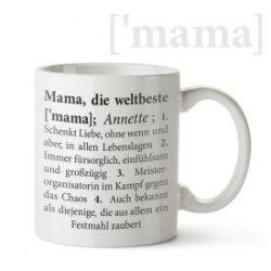 Personalisierte Tasse - Definition Weltbeste Mama