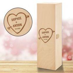 Personalisierte Weinkiste - Amors Pfeil