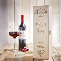 Personalisierte Weinkiste - Jahrgang