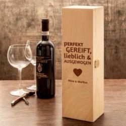 Personalisierte Weinkiste - Liebe Perfekt Gereift