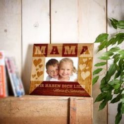 Personalisierter Bilderrahmen für Mama