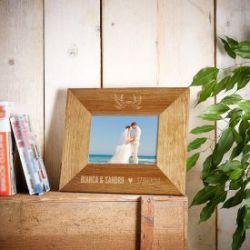 Cadre photo personnalisé pour couples - tourtereaux
