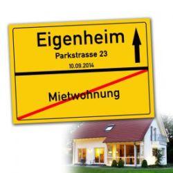 Personalisiertes Ortsschilderbild - Eigenheim