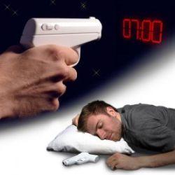 Réveil projecteur pistolet