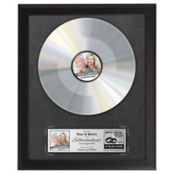 Schallplatte -  personalisiert zur Silbernen Hochzeit