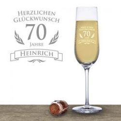 Flûte à champage pour le 70e anniversaire
