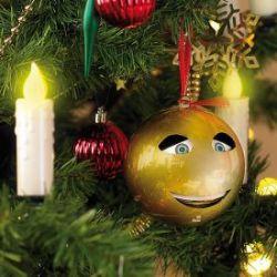 Boule de Noël chantante dorée