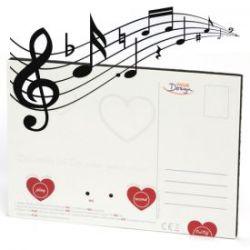 Carte postale romantique qui parle