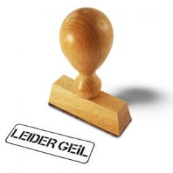 Stempel Leider Geil