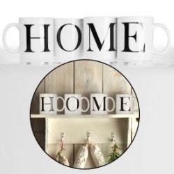 Tasse - Buchstaben Home
